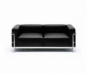 lc3 canape canapes d39attente de cassina architonic With canape le corbusier lc3