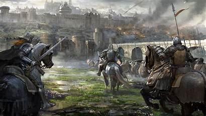 Medieval 4k Wallpapers Warfare Castle Battle Knight