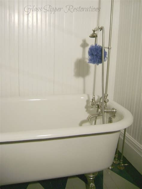 original  clawfoot tub  shower surround