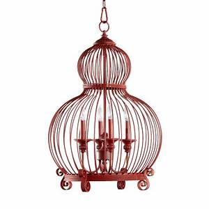 Quorum International 6765 4 34 Red Birdcage 4 Light