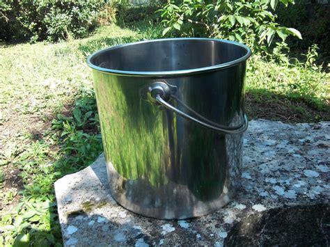 seau inox toilette seche seau inox 12 litres avec couvercle qualit 233 alimentaire toilettes seches toilette seche wc