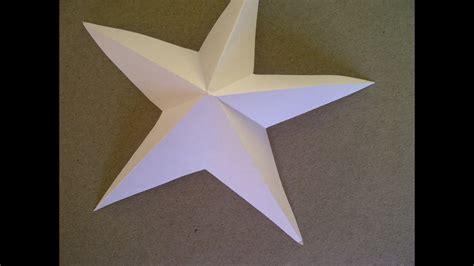 sterne falten aus papier 3d sterne basteln 5 zackiger aus papier falten sehr einfach