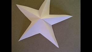 Sterne Aus Papier Falten : 3d sterne basteln 5 zackiger stern aus papier falten sehr einfach youtube ~ Buech-reservation.com Haus und Dekorationen