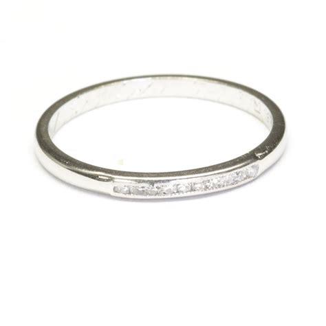 18 karat white gold wedding ring c 1931 from