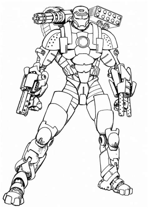iron man war machine type coloring page netart