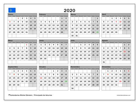 calendario principado de asturias espana michel
