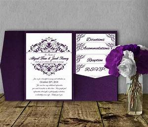 silver purple wedding invitation template kit invitation With lavender wedding invitations kits