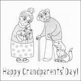 Coloring Grandparents Pages Printables Template Happy Printable Parents Invitation Cards Grand Bestcoloringpagesforkids Worksheets sketch template