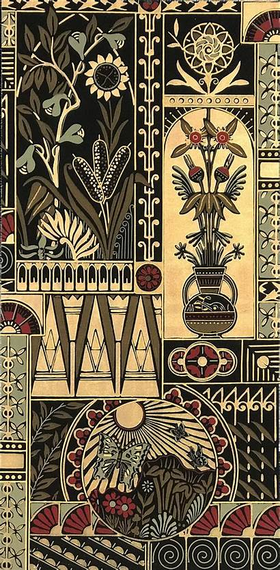 Aesthetic Movement Antique Backgrounds Wallpapers Fragment Mounted