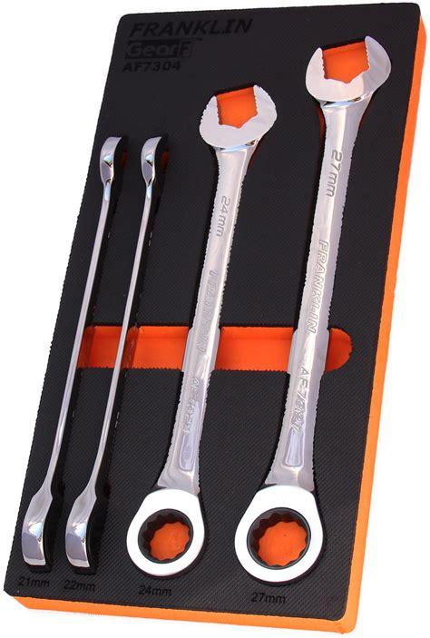 Gear F Grip 4+ 4 pce 12 pt Combination Ratchet Spanner Set ...