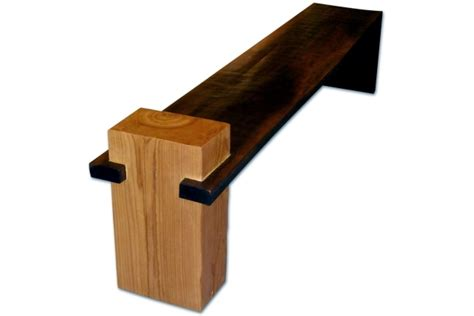 Interior Wood Bench by Solid Wood Furniture Complete The Minimalist Interior