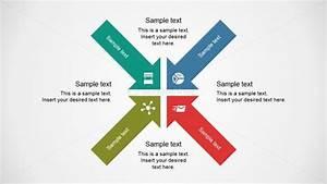 Four Arrows Quadrant Diagram For Powerpoint