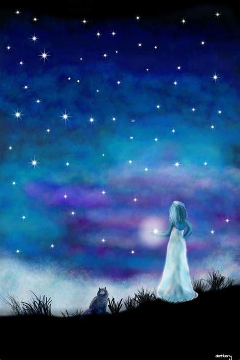 night sky drawing picsart drawings skies nightsky cool artist paintings