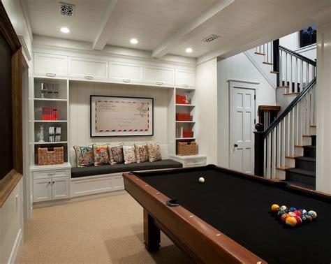 15 Stunning Transitional Basement Design   Bookcase