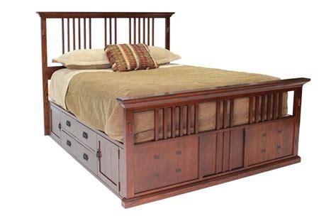 Mor Furniture Bunk Beds by San Mateo Oak E King Spindle Captains Bed Beds Bedroom