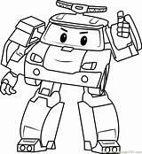 Poli Coloring Robocar Pages Printable Drawing Cartoon Tk Coloringpages101 Getdrawings Kerra sketch template