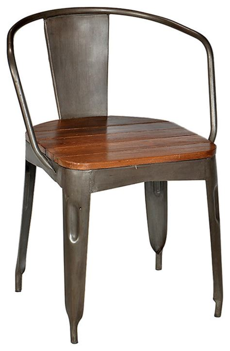 iron dining chair stainless steel industrial dining