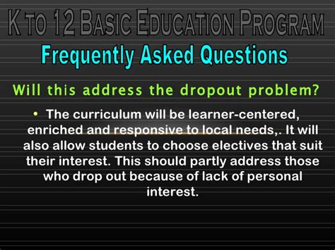 Frequently Asked Questions About The Gnu K To 12 Basic Education Program Frequently Asked Questions