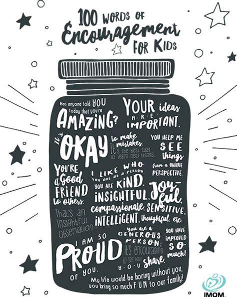 words  encouragement  kids imom