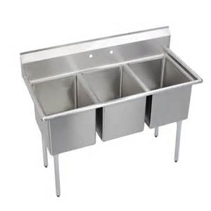 3 Bay Commercial Sink by 14 Quot Standard Sinks 3 Compartment Elkay Foodservice