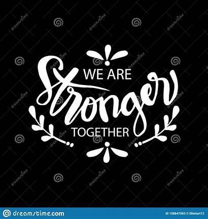 Together Stronger Ensemble Forts Sommes Nous Banner