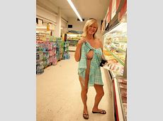 Milf Showing Her Parts In A Supermarket Oops Boobs Sexy Shopping