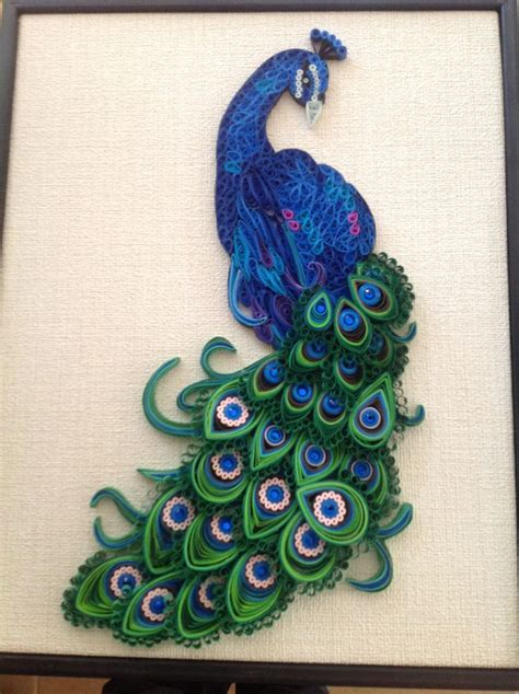 paper quilling peacock google search painting