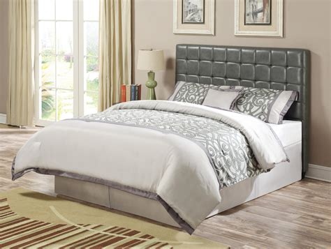 gray wood headboard transitional grey wood leatherette cal king