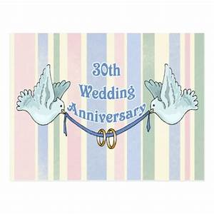 30th wedding anniversary gifts postcard zazzle With gifts for 30th wedding anniversary