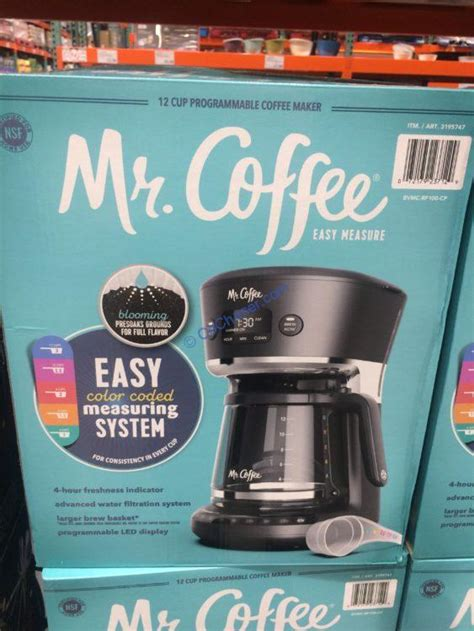 costco   coffee  cup easy measure programmable