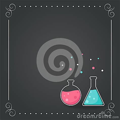 chemistry bottles  chalkboard background school