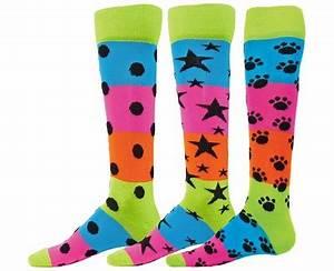 Neon Striped Rainbow Knee High Socks in 3 Fun Patterns
