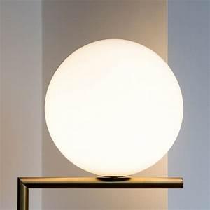 Flos ic lights f1 brushed brass for Orbit michael metal floor lamp brushed steel