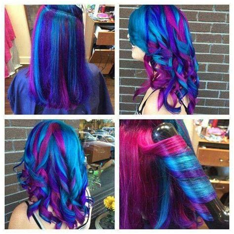 bi flag rainbow hair  doable ideas hair hair