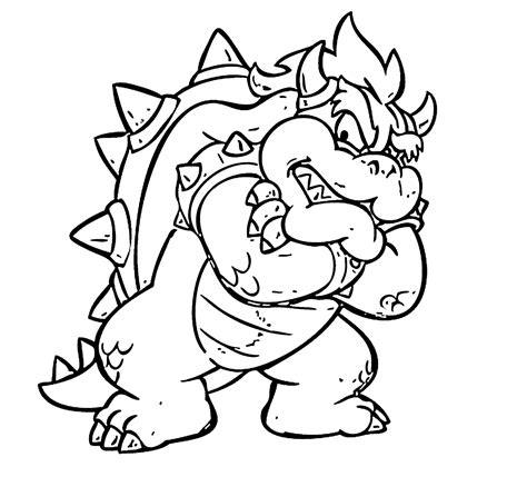 Giga Bowser Kleurplaten by From Mario Coloring Pages For