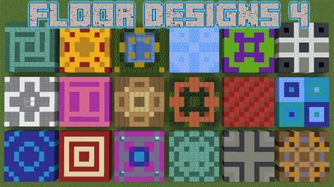 minecraft floor designs pt   block tile  designs youtube