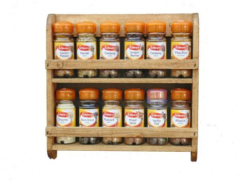 Wooden Spice Rack, Wall Mounted, Pine Shelf, Kitchen