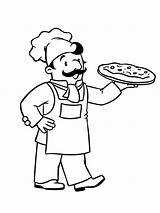 Chef Pizza Kok Coloring Pages Total Nice sketch template