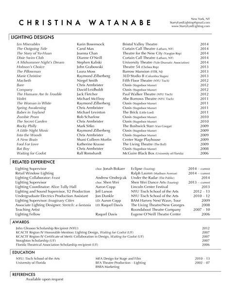 28 lighting designer resume 100 lighting designer resume