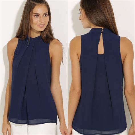 blouson blouse casual chiffon blouse summer and