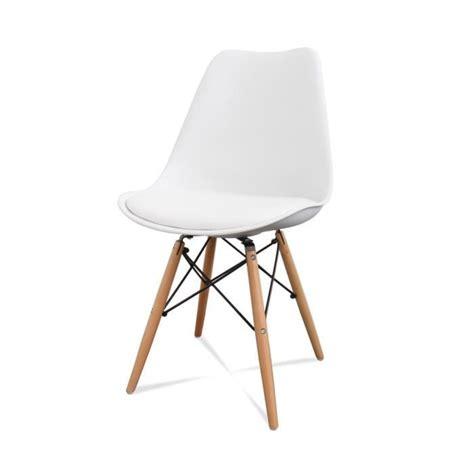 lot chaises lot de 2 chaises design ormond dsw couleur blanc achat