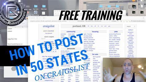 craigslist advertising strategies   post ads