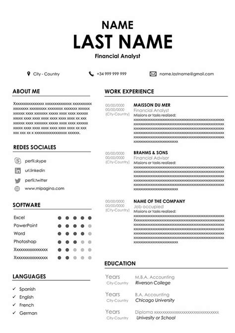 Accountant Resume Sample for Word - Free Download | CVs