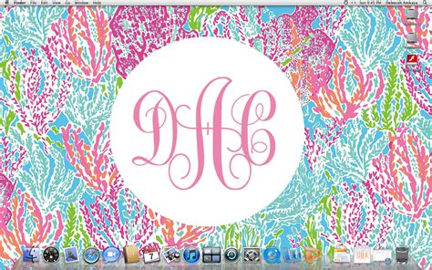 Monogram Background Monogram Lilly Pulitzer Desktop Wallpaper Wallpapersafari