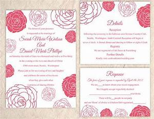 free red rose wedding invitation templates yaseen for With free printable rose wedding invitations