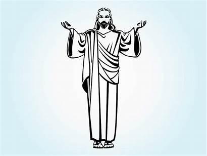 Jesus Christ Vector Clip Outline Arms Open