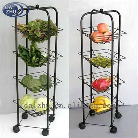 vegetable storage trolley kitchen 4 tier metal kitchen vegetable storage trolley buy 6755