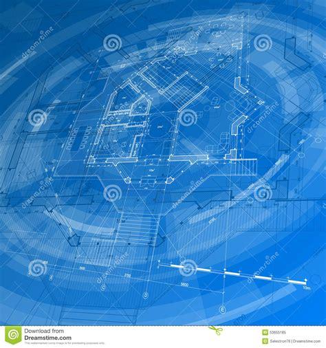 architecture design blueprint house plan stock vector illustration  blue modern