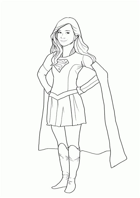 coloring pages supergirl coloring home