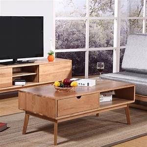 Pure and white oak wood coffee table high end living room for High end coffee tables living room